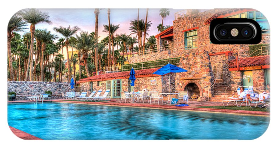 Death IPhone X Case featuring the photograph Furnace Creek Inn Sunset by Heidi Smith