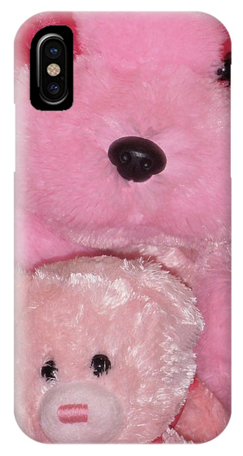 Pink IPhone X Case featuring the photograph Furry Friends by Marcia Socolik