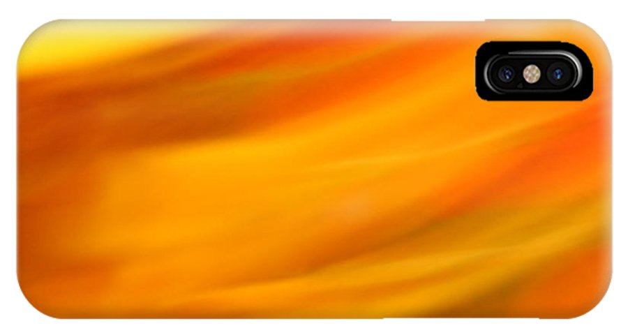 Abstract IPhone X Case featuring the photograph Fury In Color by Susan Herber