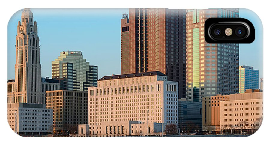 Buildings IPhone X Case featuring the photograph Fx1l922 Columbus Ohio Skyline Photo by Ohio Stock Photography