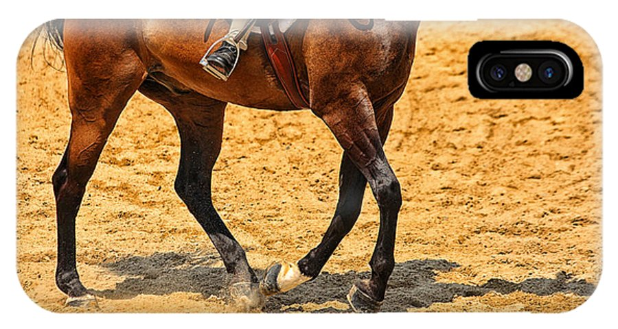 Horse IPhone X Case featuring the photograph Gallop by Karol Livote