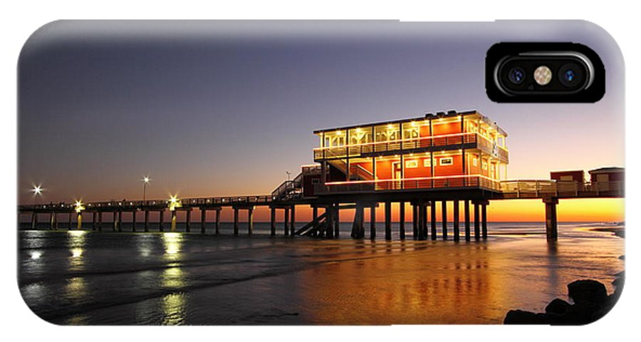 Texas IPhone X Case featuring the photograph Galveston Fishing Pier 2am-108856 by Andrew McInnes