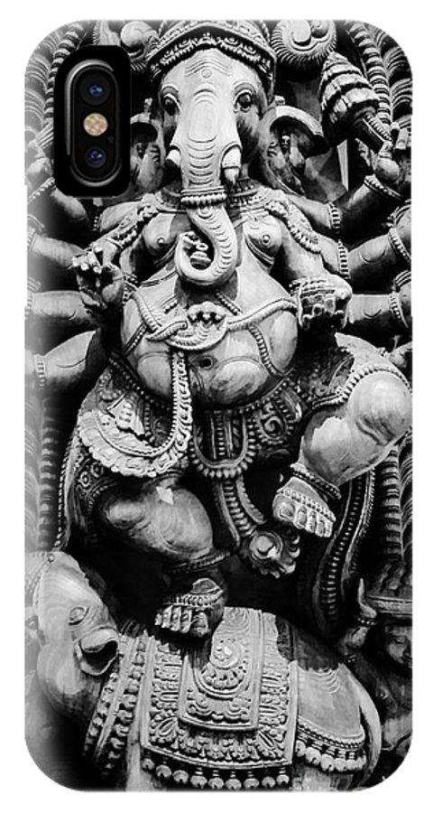 Ganesha IPhone X Case featuring the photograph Ganesha by Luis Moya