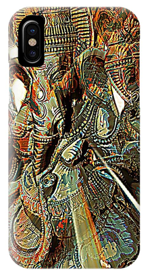 Lord IPhone X Case featuring the digital art Ganesha by Tg Devore