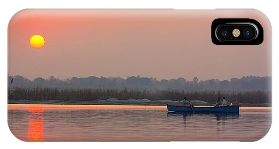 Indian Sunset IPhone X Case featuring the photograph Ganges Sunset by Amanda Stadther