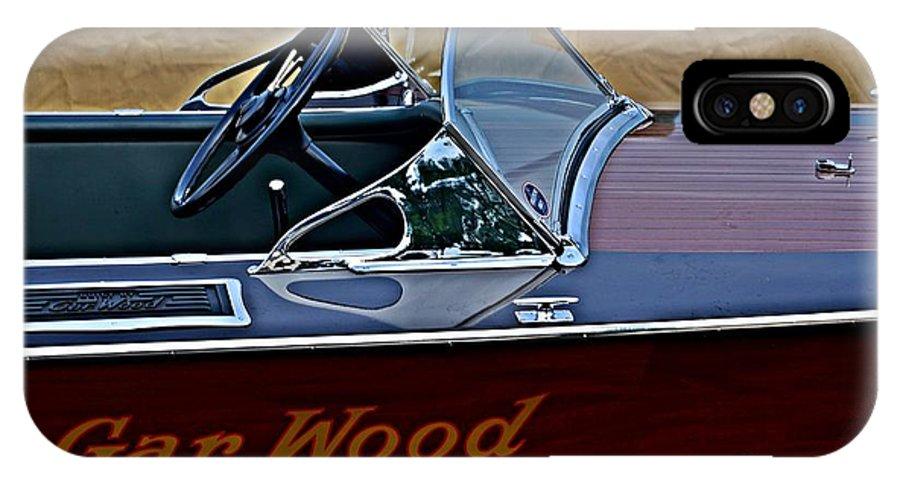 Gar Wood Boat IPhone X Case featuring the photograph Gar Wood Boat by Randy J Heath