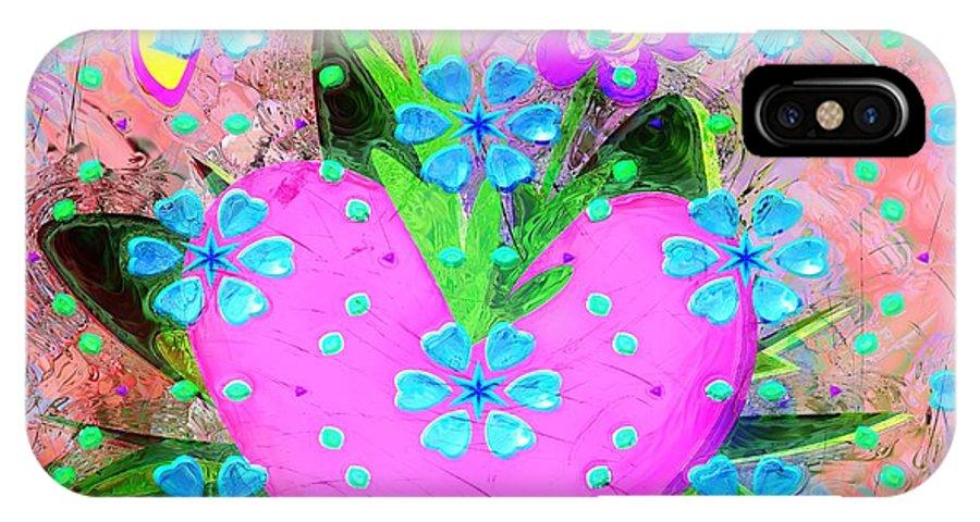 Garden Art - Abstract IPhone X Case featuring the digital art Garden Art - Abstract by Liane Wright