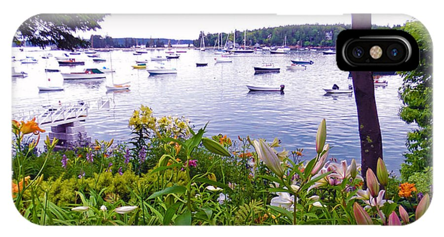Summer IPhone X Case featuring the photograph Garden By The Sea by Helene Guertin