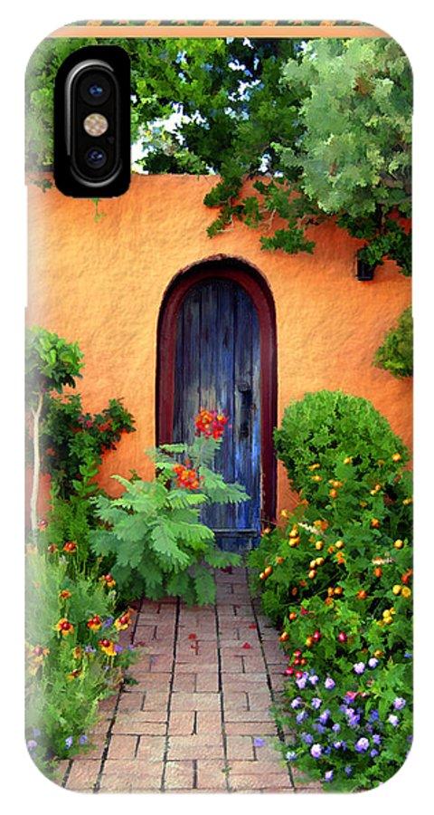 Garden IPhone X Case featuring the photograph Garden Delights Mesilla by Kurt Van Wagner