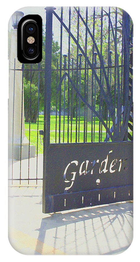Gate IPhone X / XS Case featuring the photograph Garden Gate by Andrea Lynch