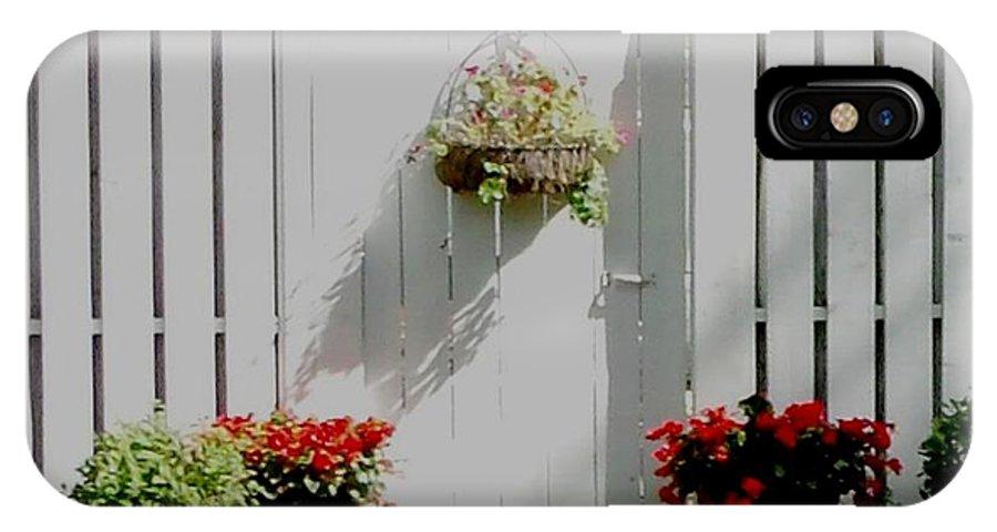Garden IPhone X Case featuring the photograph Garden Gate by Gail Matthews