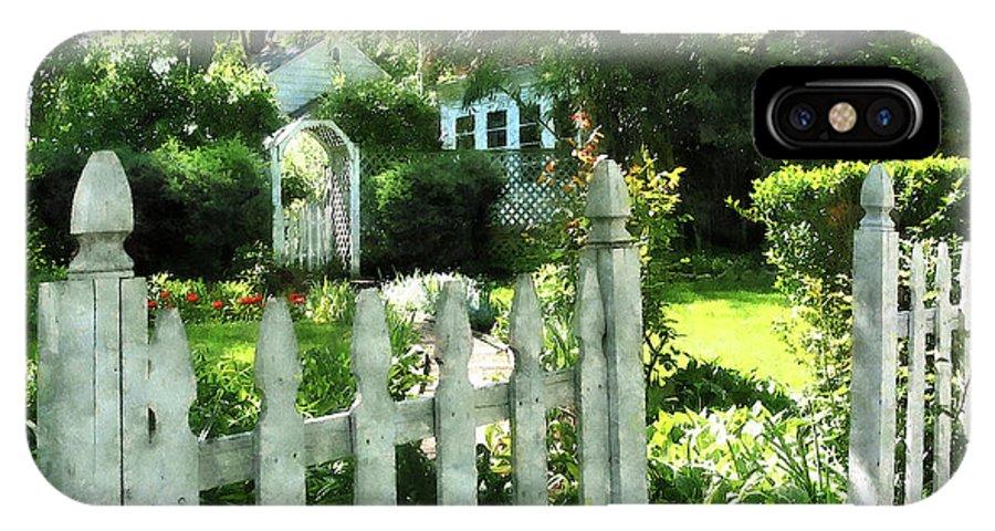 Garden IPhone X Case featuring the photograph Garden Gate by Susan Savad