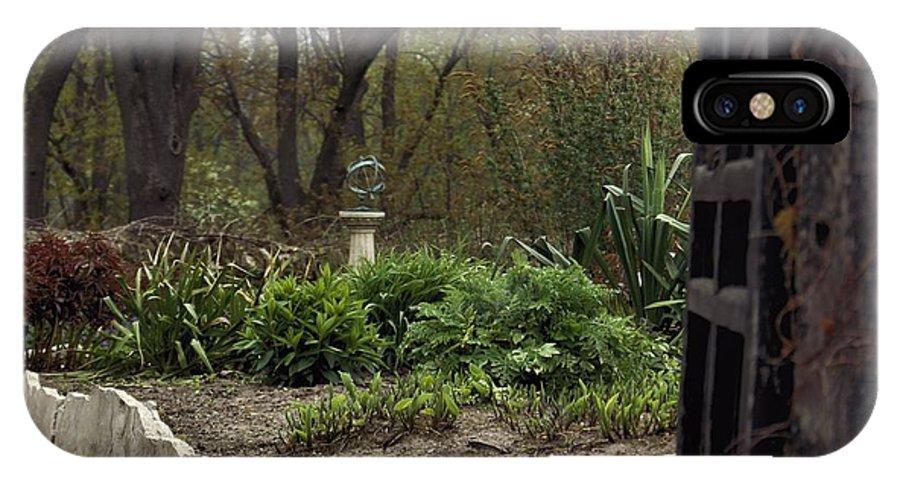 Garden IPhone X Case featuring the photograph Garden Gateway by Karla Corbin
