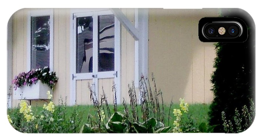 Garden House IPhone X Case featuring the photograph Garden House Of Flowers by Gail Matthews