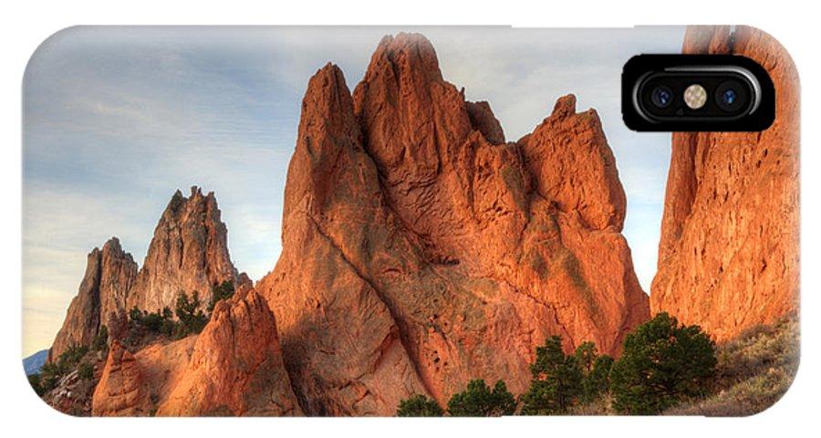 Garden Of The Gods IPhone X Case featuring the photograph Garden Of The Gods Colorado by Bob Christopher
