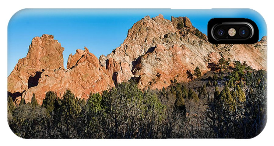 Dan Sabin IPhone X Case featuring the photograph Garden Of The Gods Formation by Dan Sabin