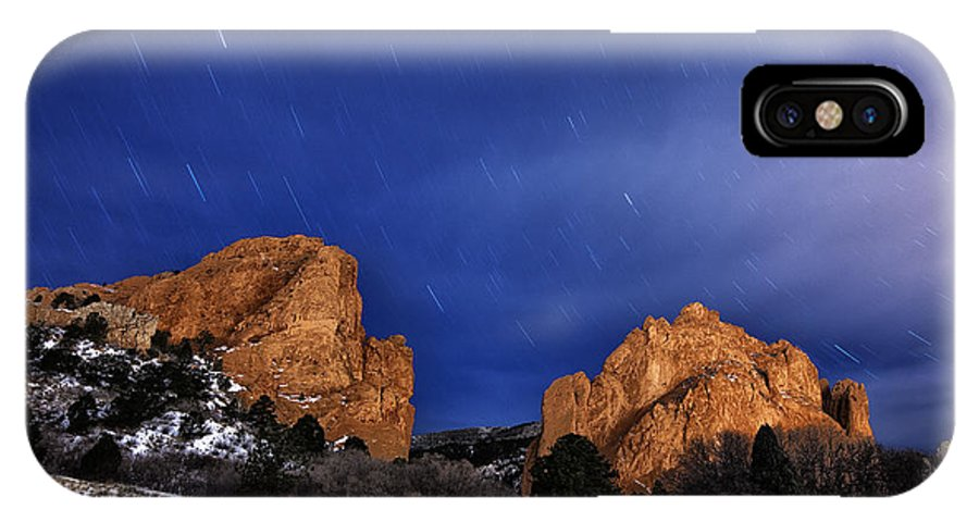 Stars IPhone X Case featuring the photograph Garden Of The Gods Star Storm by Darren White