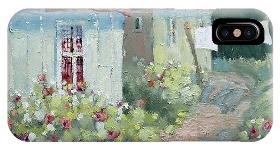 Cottages IPhone Case featuring the painting Garden Path by Joyce Hicks