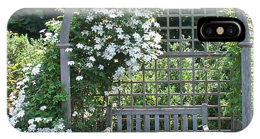 Garden IPhone X Case featuring the photograph Garden Respite by Barbara McDevitt