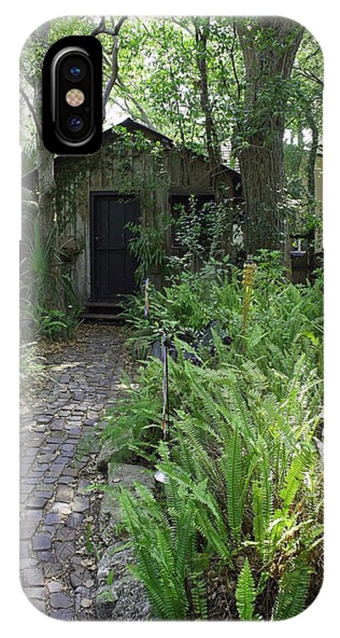 Garden IPhone X Case featuring the photograph Garden Shed by Laurie Perry