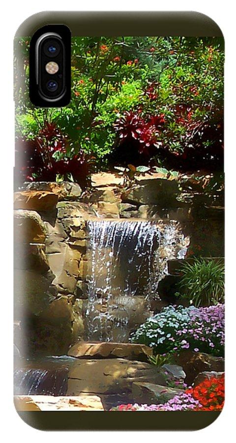 Garden IPhone Case featuring the photograph Garden Waterfalls by Pharris Art