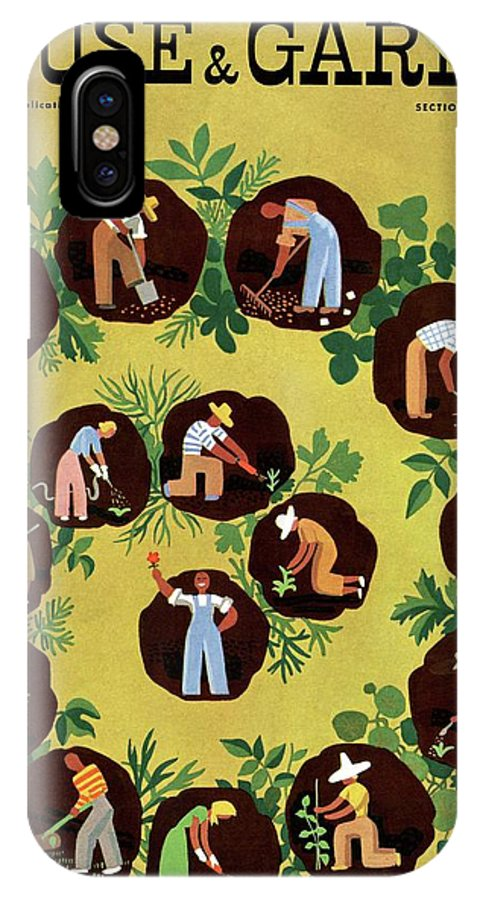House And Garden IPhone X Case featuring the photograph Gardeners And Farmers by Witold Gordon
