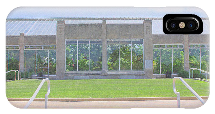 Park IPhone X / XS Case featuring the photograph Garfield Park Conservatory by Andrea Lynch