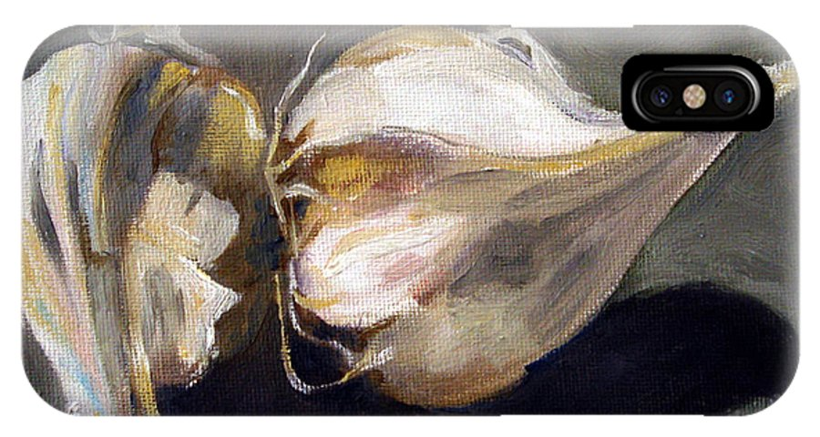 Still-life IPhone Case featuring the painting Garlic by Sarah Lynch
