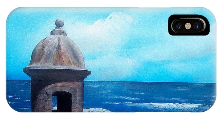 Garrita Del Diablo IPhone X Case featuring the painting Garrita Del Diablo by Tony Rodriguez