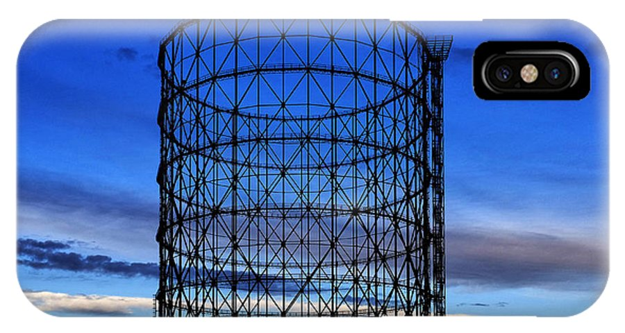 Rome IPhone X Case featuring the photograph Gas Holder by Fabrizio Troiani