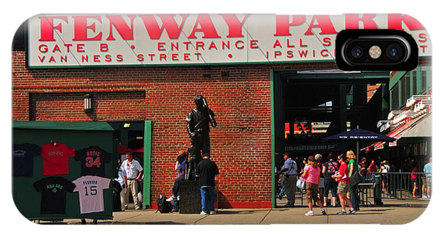 Fenway IPhone X Case featuring the photograph Gate B Fenway Park by Mike Martin