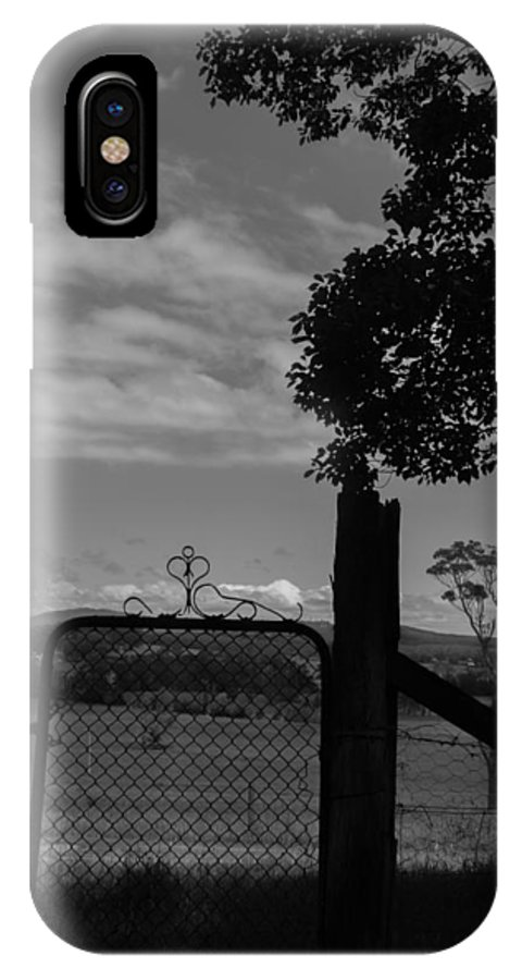 Gate IPhone X Case featuring the photograph Gated Light by Kaleidoscopik Photography