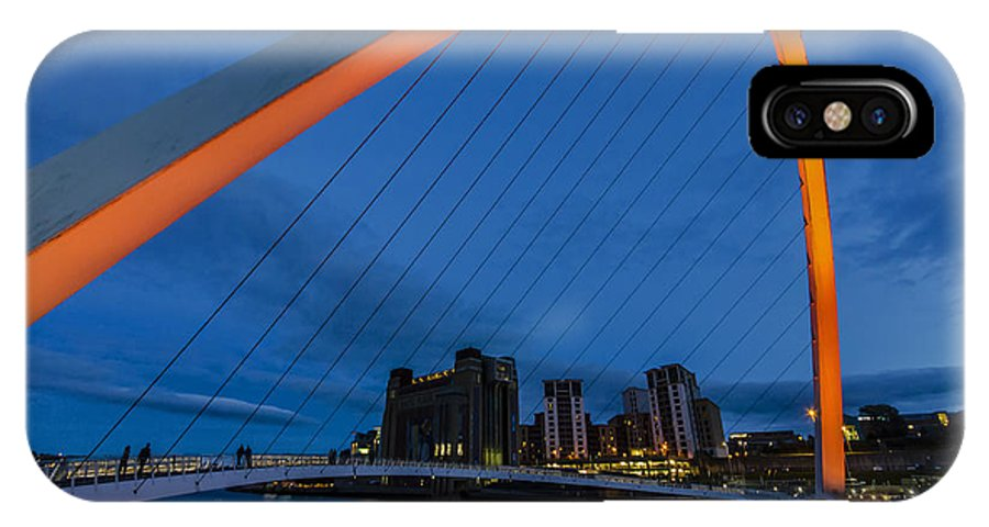 Newcastle IPhone X Case featuring the photograph Gateshead At Night by Trevor Kersley