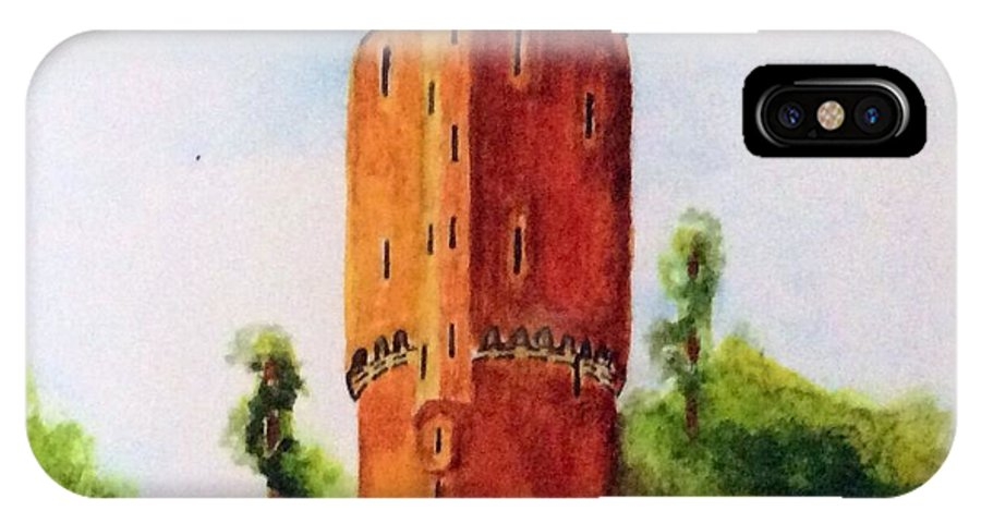 Historic Site IPhone X Case featuring the painting Gateway To Brugge by Nancy Hanrath
