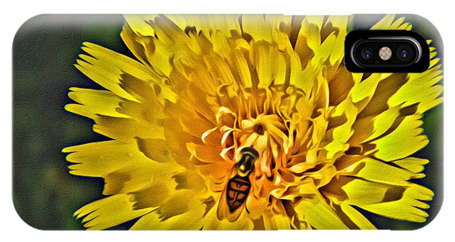 Gather IPhone X Case featuring the photograph Gathering Nectar by Scott Hervieux