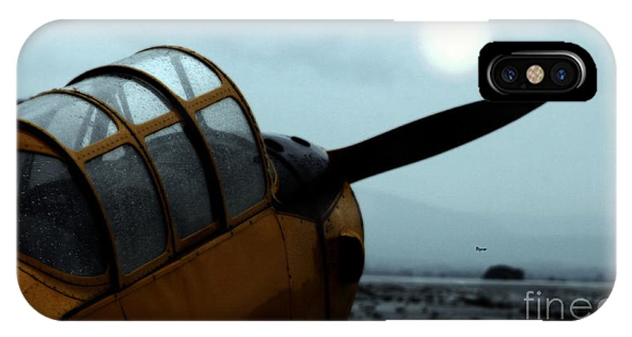 Airplanes IPhone X Case featuring the photograph Gathering Rain Dust - Pt-26 Harvest Yellow by Steven Digman