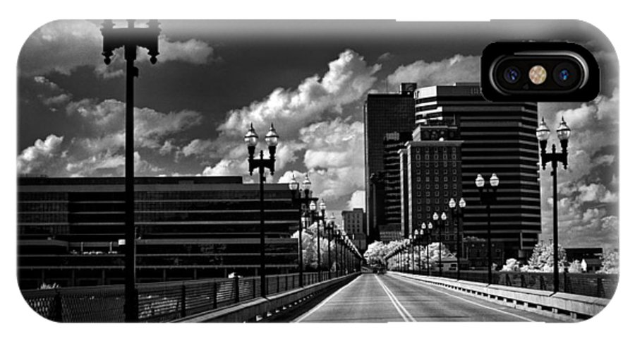 Infrared IPhone X Case featuring the photograph Gay Street Bridge - Knoxville by Paul W Faust - Impressions of Light