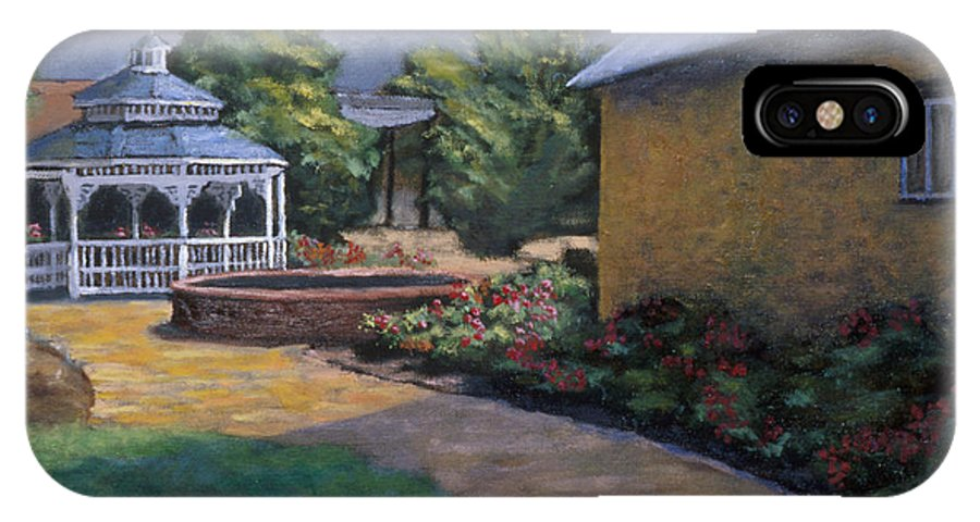 Potter IPhone X Case featuring the painting Gazebo in Potter Nebraska by Jerry McElroy