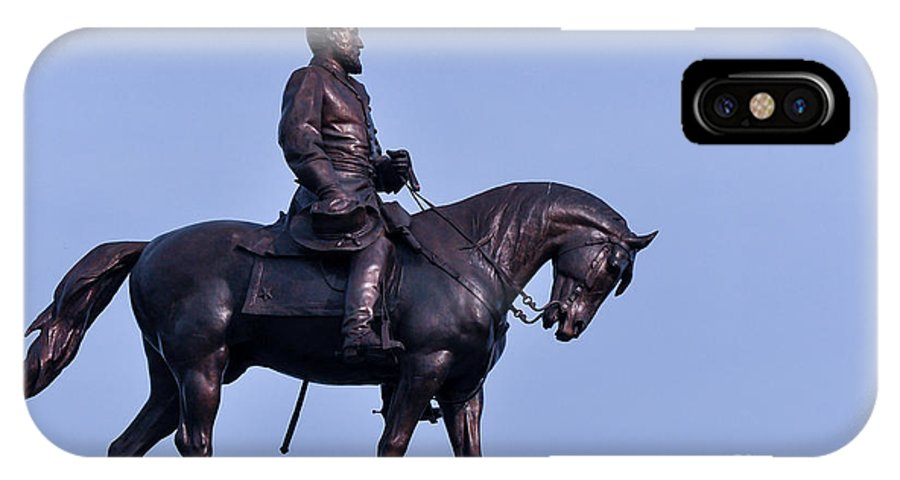 Virginia IPhone X Case featuring the photograph General Robert E Lee by Lee Wilson
