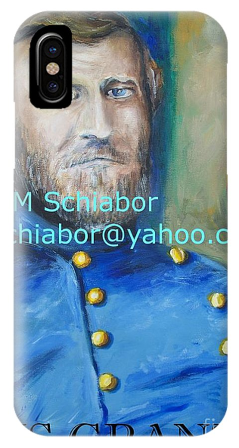 Grant Artwork IPhone X Case featuring the painting General Us Grant by Eric Schiabor