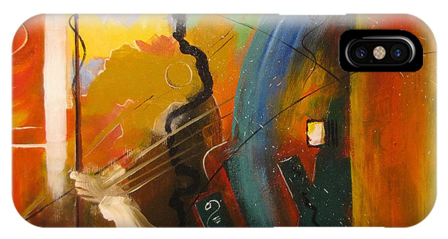 Abstract IPhone X Case featuring the painting Genesis 1 Vs 3 Let There Be Light by Gary Smith