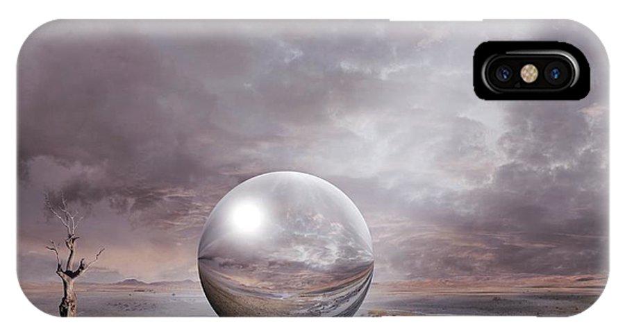 Ball IPhone X Case featuring the digital art Genesis by Franziskus Pfleghart