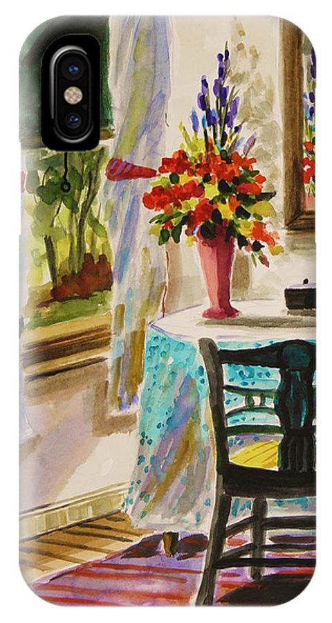 Watercolor IPhone X Case featuring the painting Gentle Light by John Williams