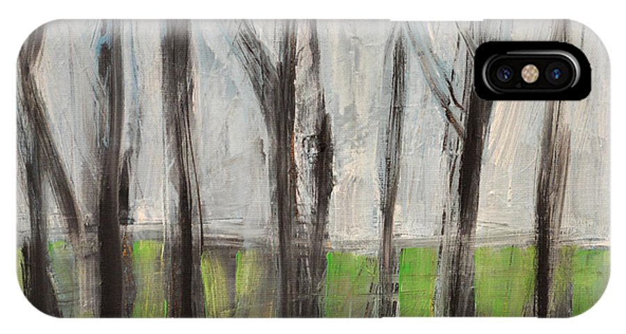 Trees IPhone X Case featuring the painting Gentle Rain by Tim Nyberg