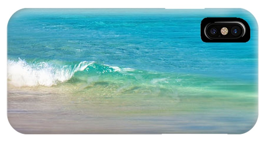 Wave IPhone X Case featuring the photograph Gentle Wave by Mary Ann Tardif