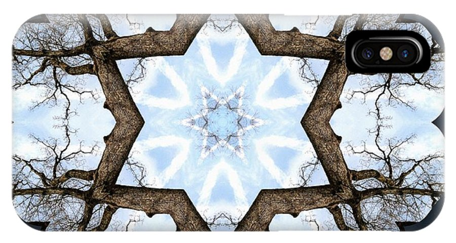 Sacredlife Mandalas IPhone X Case featuring the photograph Geometry Tree by Derek Gedney