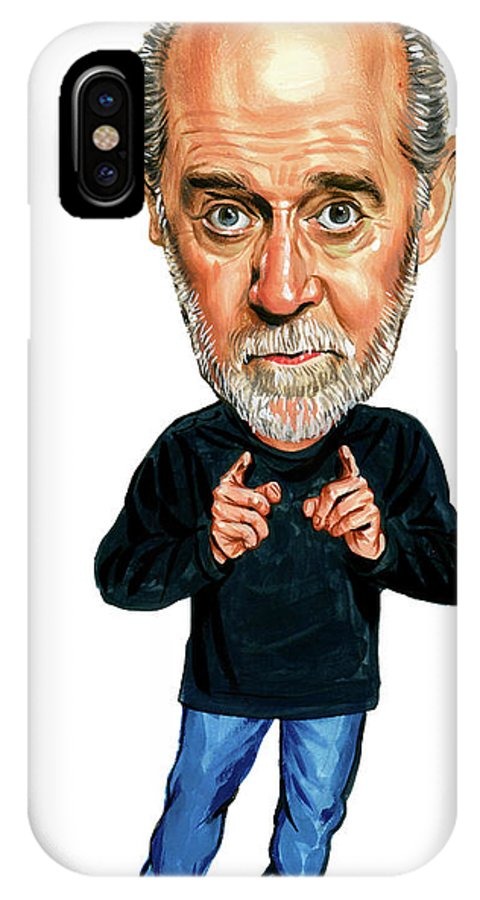 George Carlin IPhone X Case featuring the painting George Carlin by Art