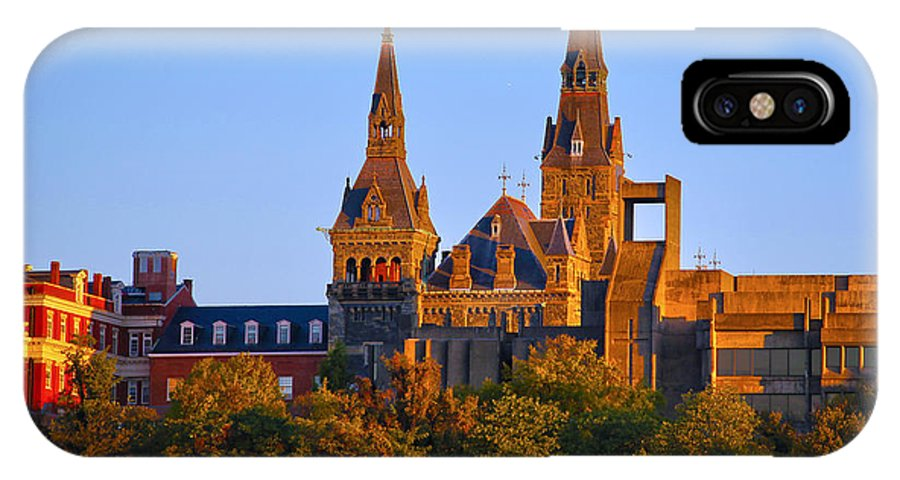 Georgetown University IPhone X Case featuring the photograph Georgetown University by Mitch Cat