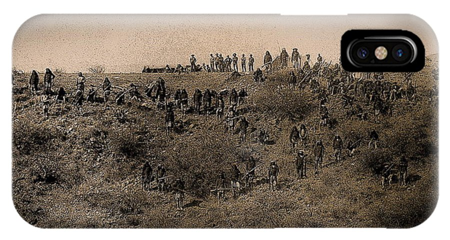 Geronimo's Band Of Warriors 1886 IPhone X Case featuring the photograph Geronimo's Band Of Warriors 1886-2012 by David Lee Guss