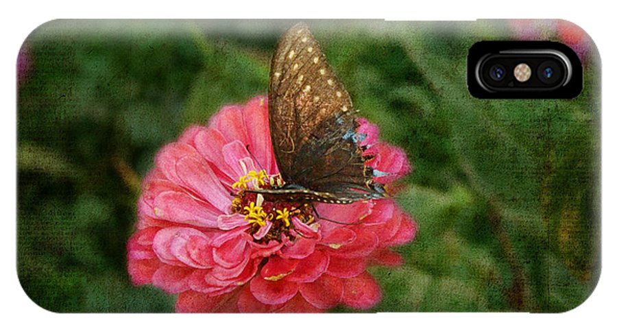Butterfly IPhone X Case featuring the photograph Getting A Drink by Louise Reeves